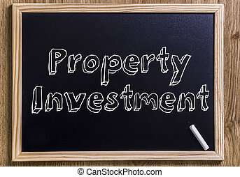 Property Investment - New chalkboard with 3D outlined text