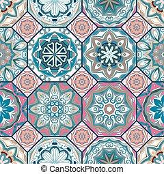 Gorgeous floral tile design.