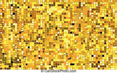 Mosaic mural golden (seamless pattern) - Mosaic mural golden...