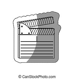 contour clapper board icon