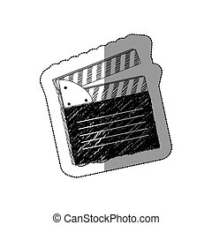 grayscale clapper board icon