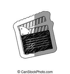 grayscale clapper board icon