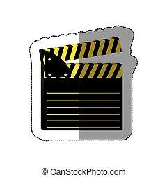 color clapper board icon