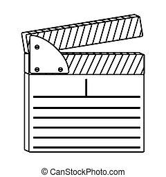 figure clapper board icon