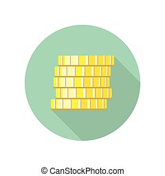 Coins Vector Illustration in Flat Design
