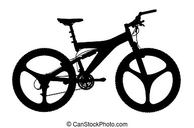 Silhouette of a mountainbike - Computer generated 2D...