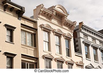 King street facades - Store facades of King street shopping...