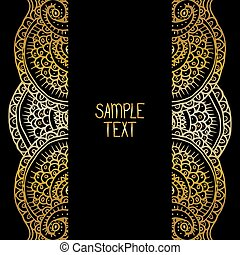 Ethnic tribal abstract background pattern frame in vector...