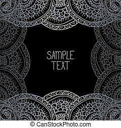Ethnic tribal abstract background pattern square frame in...