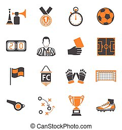 Soccer two color Icons Set