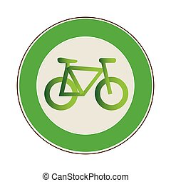 circular frame with eco bike