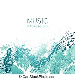 Vector Music Design - Vector Illustration of an Abstract...