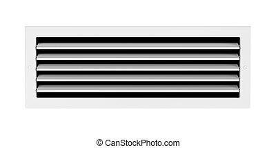 Air vent isolated on white background