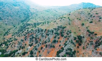 deepg gorge in mountains at crete - flying above deepg gorge...