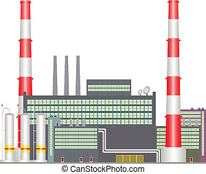 Heat power station. - On drawing is expressed industrial...