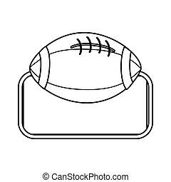 silhouette frame with football ball icon sport