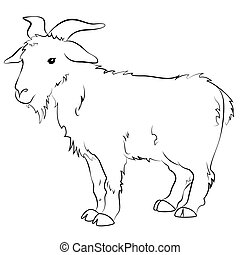 Goat silhouette vector. Eps 10 vector illustration