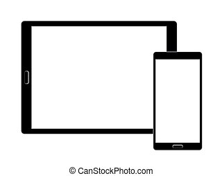 Responsive design laptop, tablet and smartphone screen icon for apps and websites. Eps 10 vector illustration
