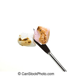 Toasted marshmallows - Soft small toasted marshmallows on...