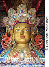 Maitreya Buddha statue - Stature of Buddha in a temple...