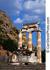 Athena Pronaia Sanctuary at Delphi, Greeece - The Tholos at...