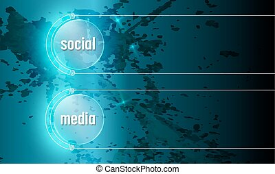Abstract background with the words social media