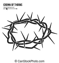 Crown Of Thorns. Silhouette Of A Crown Of Thorns. Jesus...