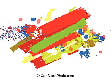 Happy holi on a background - Bright color Paint Splashes....