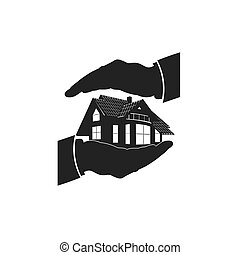 home insurance, icon, vector