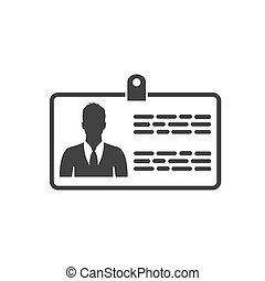 name tag, icon vector