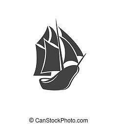 ship, icon, vector
