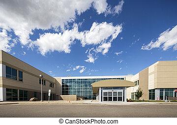Modern Hospital Building Against Sky