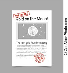 document template with stamp - A4 white vertical paper...