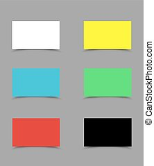 set colorful business cards