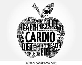 Cardio apple word cloud concept