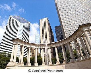 Millennium Monument in Wrigley Square, Chicago