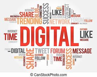 Digital word cloud