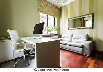 Calm office in pastel colors - Calm home office in pastel...