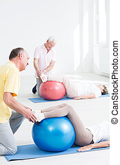Fitness class for seniors