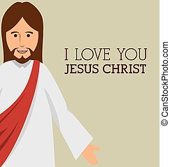 jesuschrist character religious icon vector illustration...