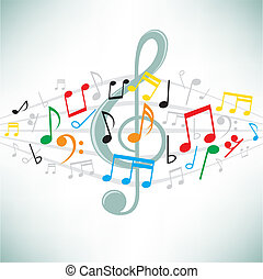 music notes background - The classical music notes vector...