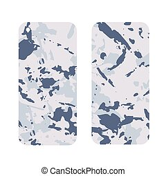 Mobile phone cover back and screen, Camouflage military...