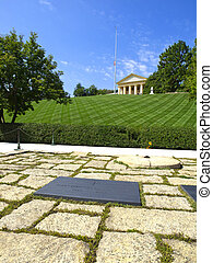 JFK Memorial - The John F Kennedy Eternal Flame is a...