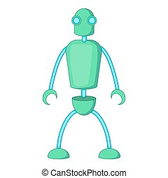 Humanoid robot icon, cartoon style - Humanoid robot icon....