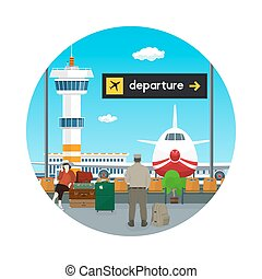 Icon Waiting Room and Scoreboard Departure - Icon Airport ,...