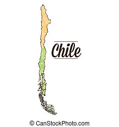 Isolated Chilean map on a white background, Vector...