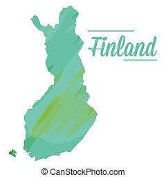Isolated Finnish map on a white background, Vector...