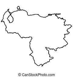 Isolated Venezuelan map on a white background, Vector...