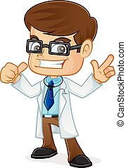 Doctor Pointing and Giving Thumb Up