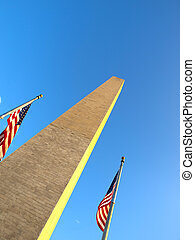 USA Flag in the Washington Monument
